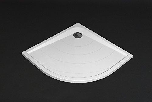 mineralguss duschwanne siena viertelkreis flach bodengleich 90x90cm inkl f e und. Black Bedroom Furniture Sets. Home Design Ideas