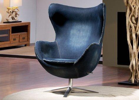 Moderne Designer-Sessel : Modell EGG JEAN 82x112x80