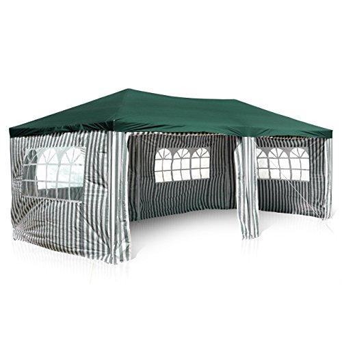 nexos gm36076 pe pavillon partyzelt mit 4 seitenteilen und 2 eing ngen f r garten terrasse feier. Black Bedroom Furniture Sets. Home Design Ideas