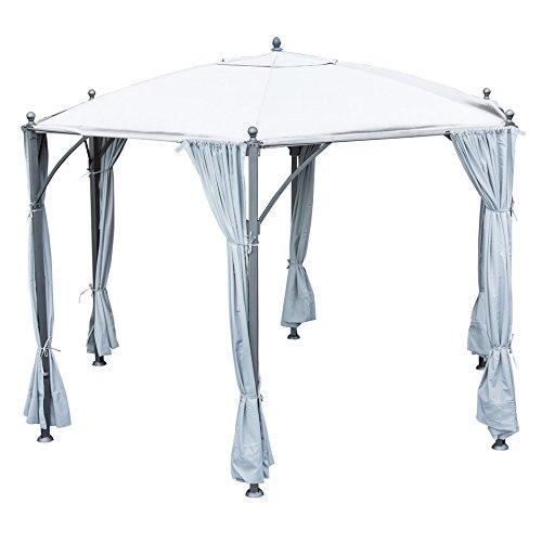 OUTLIV. Gartenpavillon Deluxe 360cm sechseckig Stahlgestell eisengrau/Grau Gartenzelt