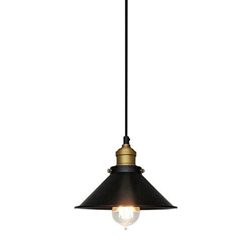 Ouku 60W Retro Pendelleuchte mit Metall Umbrella Shade in Old Factory Design