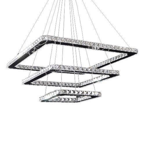 Ouku LED-Kristallanhänger, 92 LEDs, Modern Chic Edelstahl Überzug Pendelleuchten - Kristall/Inklusive Glühbirne/LED - Zeitgenössisch - Wohnzimmer/Esszimmer/Schlafzimmer