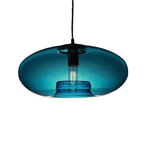 Ouku Pendelleuchte modernes Design blau Glaskolben enthalten
