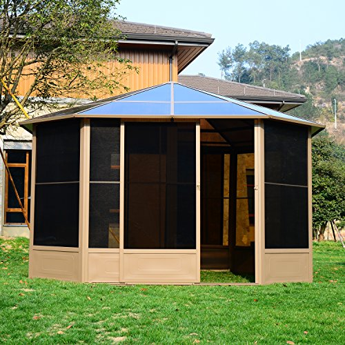 outsunny alu gartenhaus haus gartenpavillon pavillon partyzelt zelt garten 4x4m dach m bel24. Black Bedroom Furniture Sets. Home Design Ideas