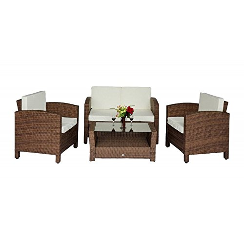 outsunny poly rattan gartenm bel gartenset lounge sitzgruppe rattan sofa14 tlg inkl kissen. Black Bedroom Furniture Sets. Home Design Ideas