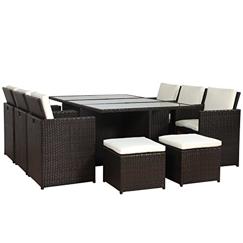 poly rattan lounge gartenset braun garnitur polyrattan aluminium rahmen kein bausatz braun. Black Bedroom Furniture Sets. Home Design Ideas