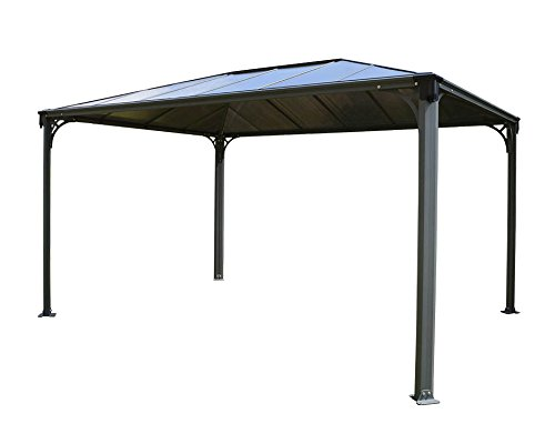Palram Martinique - Rectangular Gazebo Gartenpavillon, grau, 430 x 295.5 x 274.5 cm