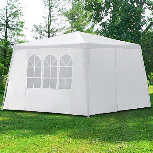Deuba® Pavillon New York 3x3m Partyzelt Festzelt Gartenzelt Eventpavillon ✔mit 4 Seitenwände ✔9m² ✔2 Fenster ✔1x Reißverschluss ✔praktisches Stecksystem - Modellauswahl