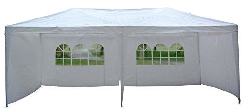 Pavillon von MACO 6 x 3 m Garten Party Zelt Gartenzelt in weiß