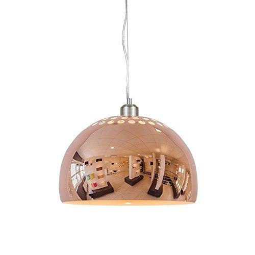 QAZQA Landhaus / Vintage / Rustikal / Modern / Retro / Pendelleuchte / Pendellampe / Hängelampe / Lampe / Leuchte Globe 33cm Kupfer / Innenbeleuchtung / Wohnzimmer / Schlafzimmer / Küche Metall Kugel