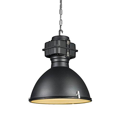 QAZQA Industrie/Industrial / Landhaus/Vintage / Rustikal/Modern / Esstisch/Esszimmer / Pendelleuchte/Pendellampe / Hängelampe/Lampe / Leuchte Sicko schwarz/Innenbeleuchtung / Wohnzimmer