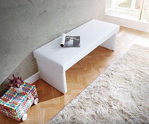 Polsterbank Olav Weiss 140x53 cm Sitzbank