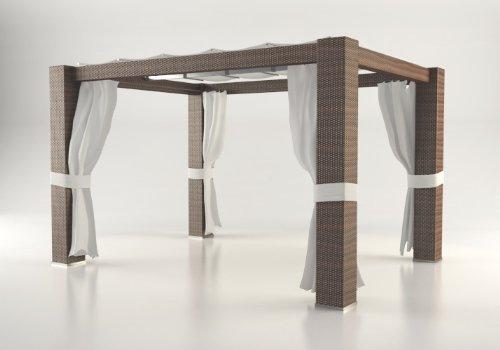 artelia pavillon paloma 4x3 m braun m bel24. Black Bedroom Furniture Sets. Home Design Ideas