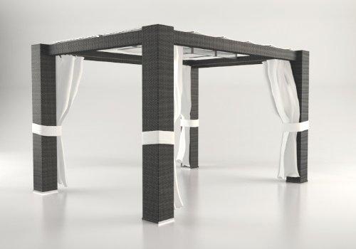 ARTELIA Pavillon Paloma 4x3 m, schwarz