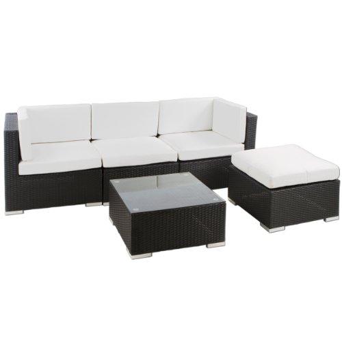 Polyrattan Sitzgruppe / Lounge Punta Cana - 15 teilig (schwarz)