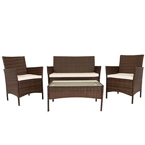 polyrattan sitzgruppe tampa braun 0 m bel24. Black Bedroom Furniture Sets. Home Design Ideas