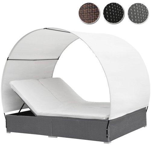 polyrattan sonneninsel xxl 180 cm gartenliege hochwertige rattanlounge liegeinsel mit. Black Bedroom Furniture Sets. Home Design Ideas