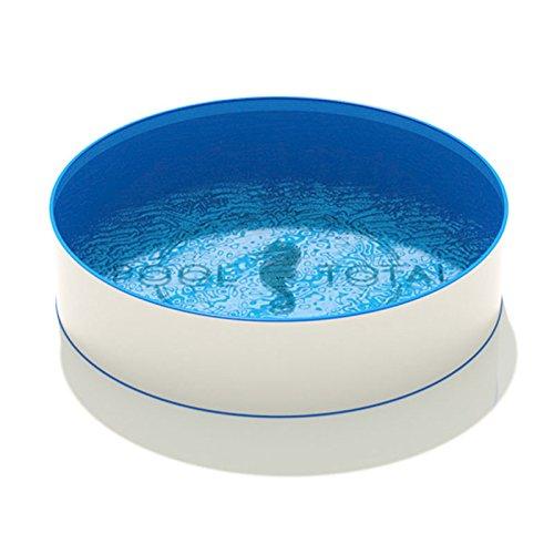 Pool Ø 4,50 x 1,20 m | Folie blau 0,6mm mit Einhängebiese | Stahlmantel 0,6mm