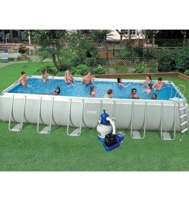 Pool aufstellbecken rohrmotor ultra silver intex 7 m32 x 3 for Aufstellbecken pool