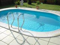 Pool Schwimmbecken Oval Ovalpool 4,90 x 3,00 x 1,20m IH 0,8mm