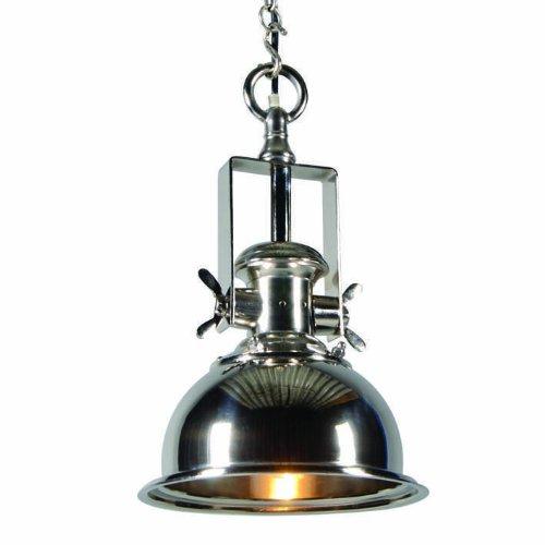 QAZQA Art Deco / Industrie / Industrial / Landhaus / Vintage / Rustikal / Modern / Retro / Pendelleuchte / Pendellampe / Hängelampe / Lampe / Leuchte Zine S Chrom / Innenbeleuchtung / Wohnzimmer / Sch