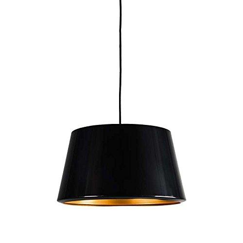 QAZQA Design / Modern / Esstisch / Esszimmer / Pendelleuchte / Pendellampe / Hängelampe / Lampe / Leuchte Vegas schwarz Gold / Messing / Innenbeleuchtung / Wohnzimmer / Schlafzimmer / Küche Metall Run