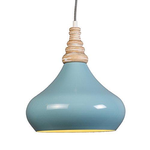 QAZQA Design / Für Kinder / Modern / Pendelleuchte / Pendellampe / Hängelampe / Lampe / Leuchte Maple hellblau / Innenbeleuchtung / Wohnzimmer / Schlafzimmer / Küche Aluminium / Holz / Rund LED geeign