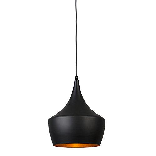 QAZQA Design / Modern / Pendelleuchte / Pendellampe / Hängelampe / Lampe / Leuchte Depeche Solo 2 schwarz / Innenbeleuchtung / Wohnzimmer / Schlafzimmer / Küche Metall Rund LED geeignet E27 Max. 1 x 4