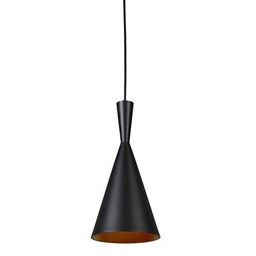 QAZQA Design / Modern / Pendelleuchte / Pendellampe / Hängelampe / Lampe / Leuchte Depeche Solo 3 schwarz / Innenbeleuchtung / Wohnzimmer / Schlafzimmer / Küche Metall Rund LED geeignet E27 Max. 1 x 4