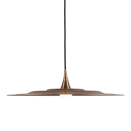 QAZQA Design / Modern / Esstisch / Esszimmer / Puristische Pendelleuchte / Pendellampe / Hängelampe / Lampe / Leuchte Drip 60 kupfer / Innenbeleuchtung / Wohnzimmer / Schlafzimmer / Küche Metall Rund