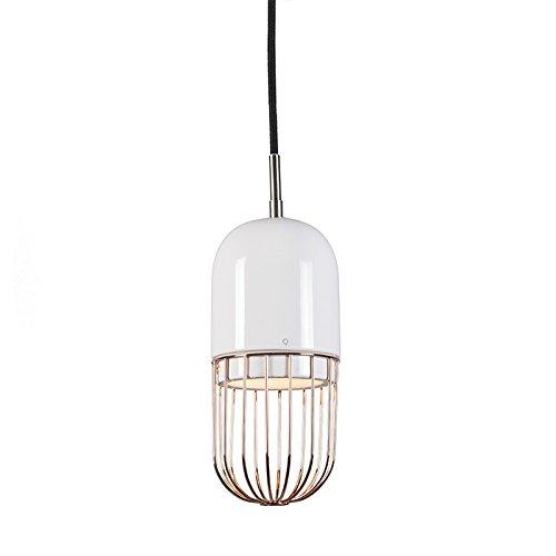 QAZQA Design/Retro / Pendelleuchte/Pendellampe / Hängelampe/Lampe / Leuchte Porcelana 2 kupfer/Innenbeleuchtung / Wohnzimmer/Schlafzimmer / Küche Metall / / Rund LED geeignet E14 Max. 1 x 4