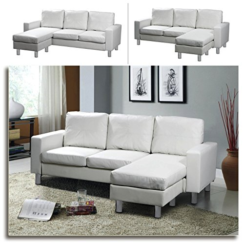 relax design ecksofa lounge sofa ledersofa relax liege wohnlandschaft weiss m bel24. Black Bedroom Furniture Sets. Home Design Ideas