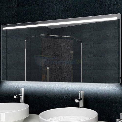 design badezimmerspiegel alu rahmen led beleuchtung 140x60 cm m bel24. Black Bedroom Furniture Sets. Home Design Ideas