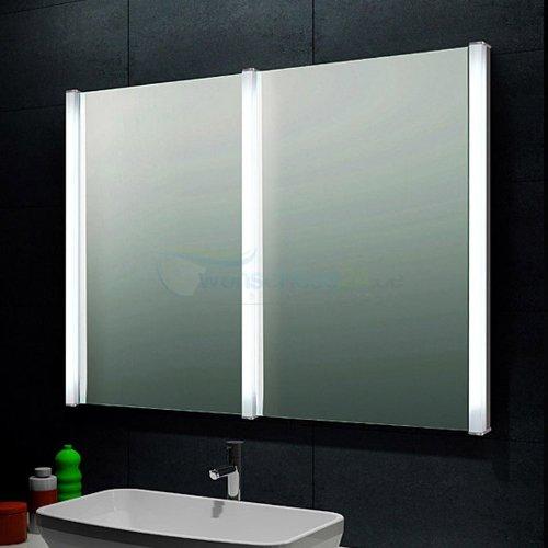 ren bugil design doppel lichtspiegel badezimmerspiegel m bel24. Black Bedroom Furniture Sets. Home Design Ideas
