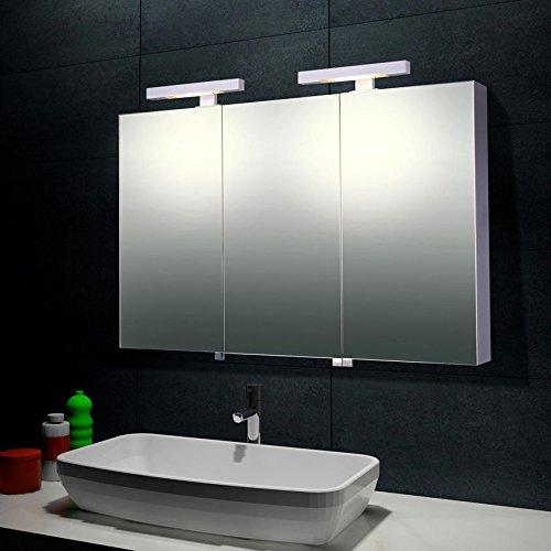 badezimmer spiegelschrank mit beleuchtung 120 x 68 cm. Black Bedroom Furniture Sets. Home Design Ideas