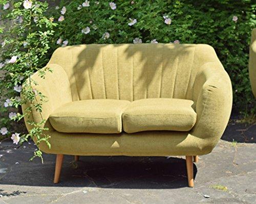 Retro Sofa Azure 2-Sitzer Stoff Olive