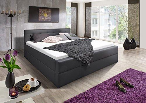 sam polsterbett 140x200 cm kaspar in grau mit lederimitat angenehmer polsterung und hohem. Black Bedroom Furniture Sets. Home Design Ideas