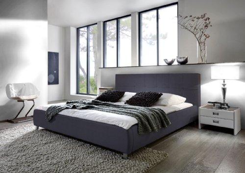 sam design polsterbett 180x200 cm zarah in grau modernes design kopfteil abgesteppt. Black Bedroom Furniture Sets. Home Design Ideas