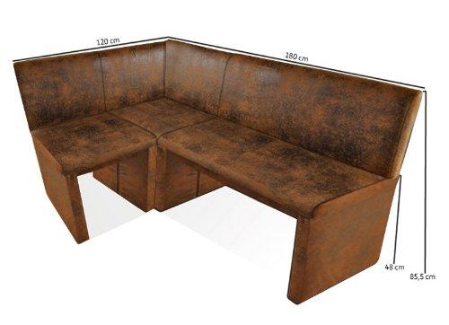 SAM® Esszimmer Eckbank Family Wilson in Wildlederoptik-Stoff, 120 x 180 cm, andere Varianten wahlweise (120 / 140 / 160 / 180 / 200 / 220 / 240 / 260)