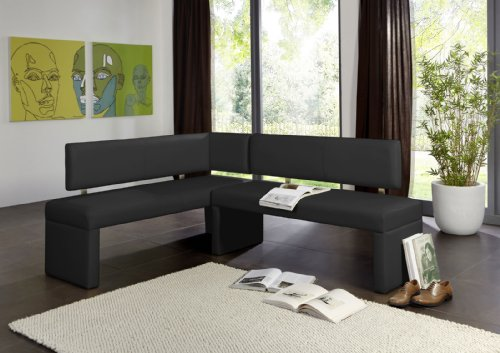 sam esszimmer eckbank sitzbank in schwarz mit. Black Bedroom Furniture Sets. Home Design Ideas