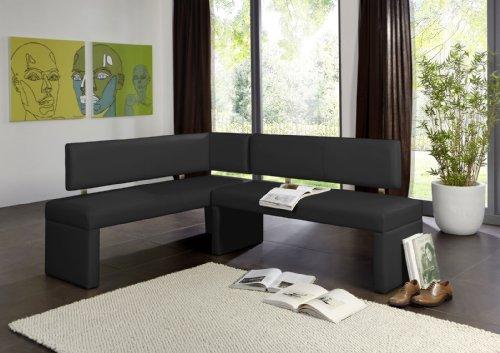 SAM® Esszimmer Eckbank, Sitzbank in schwarz, mit pflegeleichtem SAMOLUX®-Bezug, 195 x 152 cm, beidseitig aufbaubare Sitzgruppe, frei im Raum aufstellbar [53258231]