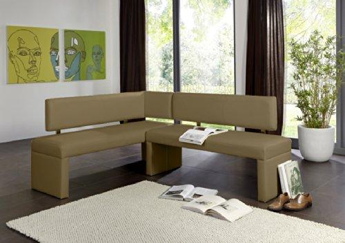 SAM® Esszimmer Eckbank, Sitzbank Susan in muddy, mit pflegeleichtem SAMOLUX®-Bezug, 195 x 152 cm, beidseitig aufbaubare Sitzgruppe, frei im Raum aufstellbar