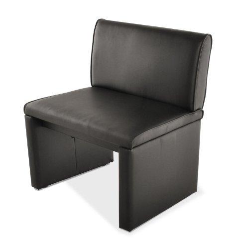 SAM® Esszimmer Einzelbank Sitzbank Family Smith 60 cm in schwarz, komplett bezogen, angenehme Polsterung, Sitzfläche für eine Person, mit durchgehender Rückenlehne