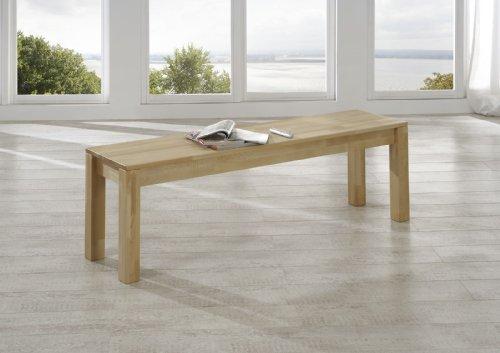 SAM® Esszimmer Sitzbank Bastian, 160 x 35 cm, aus geölter Kernbuche, Sitzfläche aus massivem Holz ohne Rückenlehne, geeignet für 3 Personen, individuell einsetzbare Bank