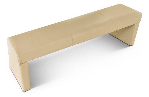 SAM Esszimmer Sitzbank 180 cm Etana in creme, mit SAMOLUX- Bezug für angenehmen Sitzkomfort, ohne Rückenlehne