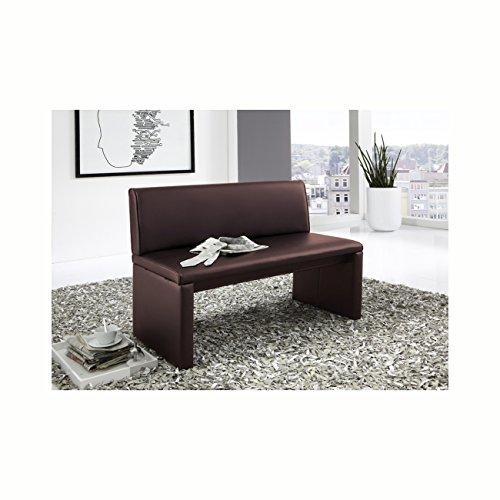 SAM® Esszimmer Sitzbank Family Brown in braun, 180 cm Breite, Sitzbank mit pflegeleichtem SAMOLUX® Bezug, angenehmer Sitzkomfort, frei im Raum aufstellbare Bank mit Rückenlehne