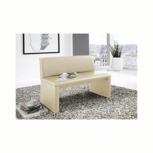 SAM® Esszimmer Sitzbank Family Cruse, 60 cm Breite, in creme, Sitzbank mit Rückenlehne aus Samolux®-Bezug, angenehmer Sitzkomfort, frei im Raum aufstellbare Bank
