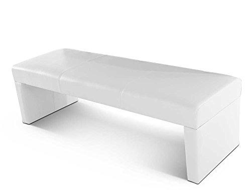 SAM® Esszimmer Sitzbank Marno in weiß, Bank in 160 cm Breite, SAMOLUX®-Bezug für angenehmen Sitzkomfort, frei im Raum aufstellbare Essbank ohne Rückenlehne