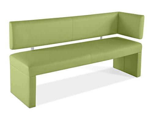 SAM® Esszimmer Sitzbank Ottomane Lasesto in lemon green Bank 170 cm mit Rückenlehne vielseitig einsetzbar, angenehmer Sitzkomfort, bequeme Polsterung, pflegeleichte Oberfläche