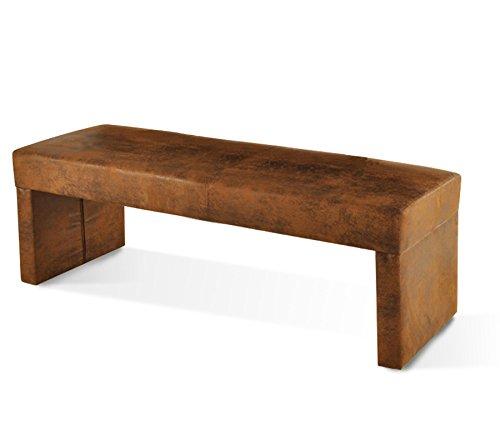 SAM® Esszimmer Sitzbank Rana in brauner Wildleder-Optik, Bank in 160 cm Breite, SAMOLUX®-Bezug für angenehmen Sitzkomfort, frei im Raum aufstellbare Essbank ohne Rückenlehne